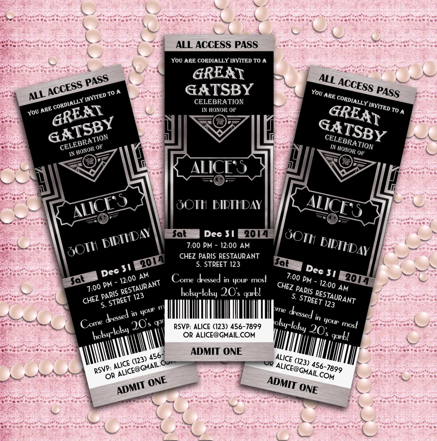 Great Gatsby Prom Invitations Elegant Great Gatsby Style Art Deco Party Invitation Prom