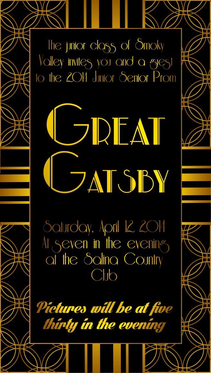 Great Gatsby Prom Invitations Inspirational 25 Unique Prom Invites Ideas On Pinterest
