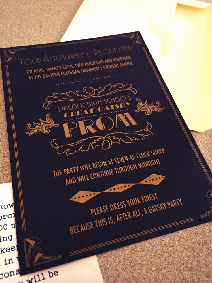Great Gatsby Prom Invitations Lovely 33 Best Images About Phhs Prom Ideas On Pinterest