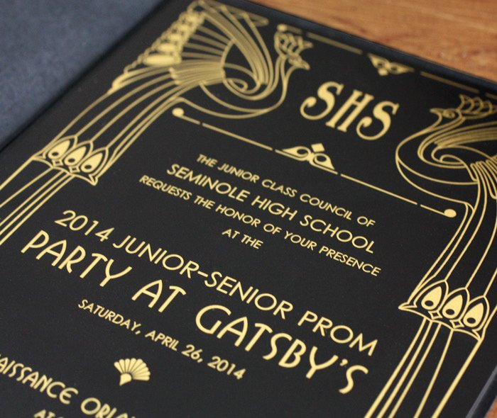 Great Gatsby Prom Invitations Lovely Custom themed Prom Invitations and Tickets