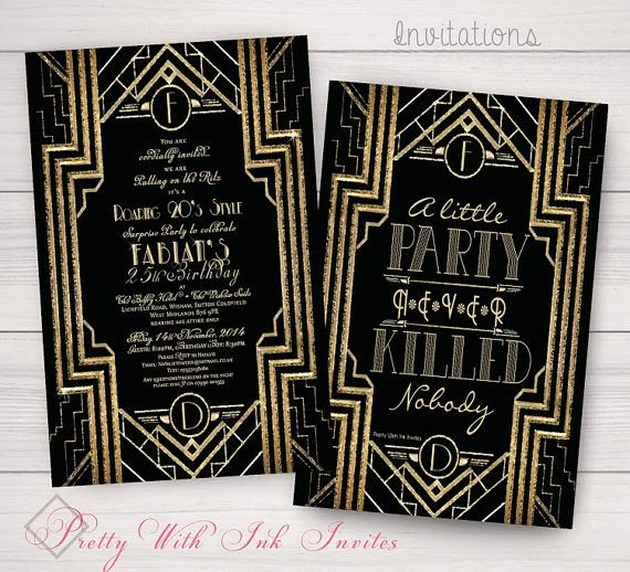 Great Gatsby Prom Invitations Unique 20 Best Sweet 16 Images On Pinterest