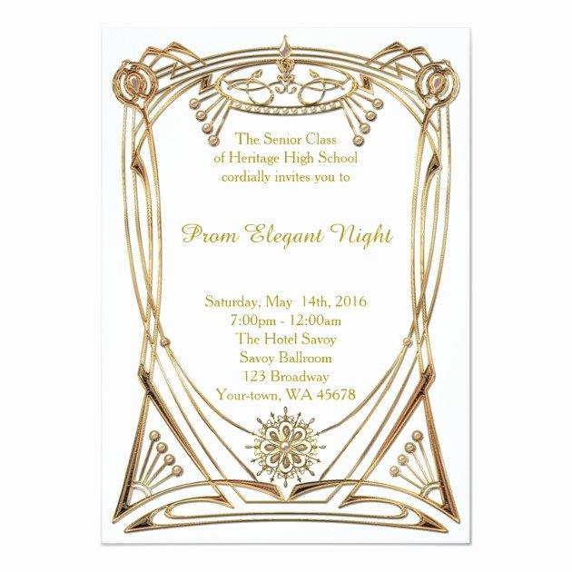 Great Gatsby Prom Invitations Unique Personalized Great Gatsby Party Invitations