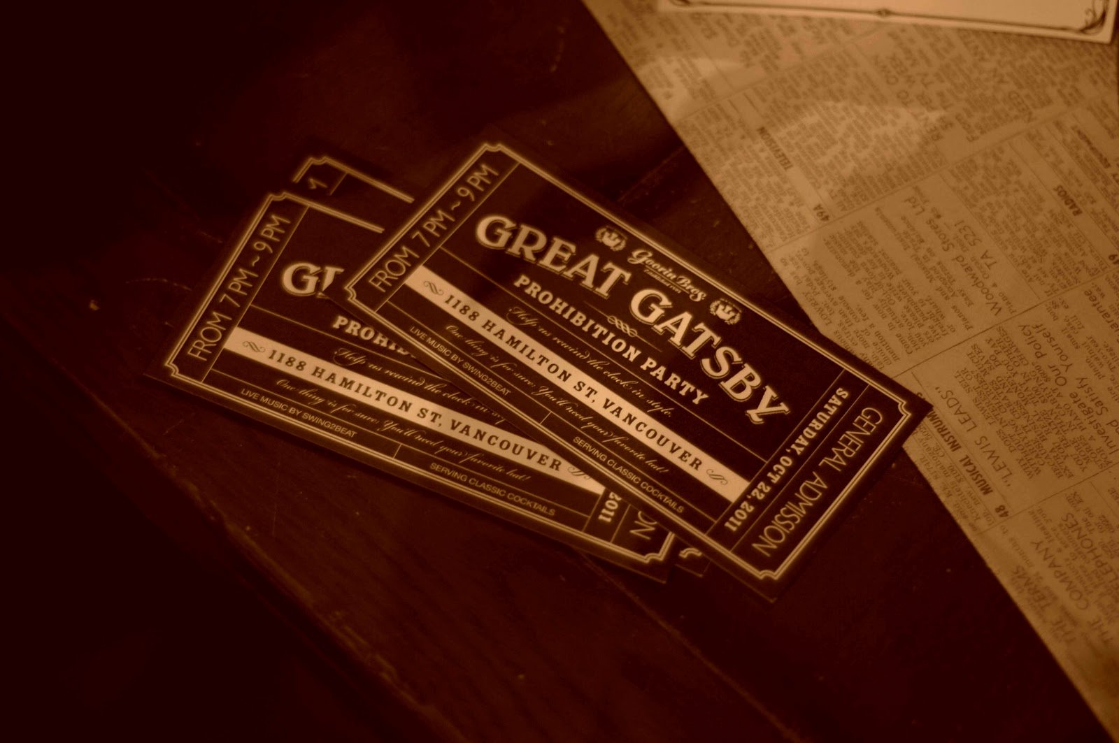 Great Gatsby Ticket Template Elegant 1920 S Deco A Little Party Never Killed Nobody theme Party