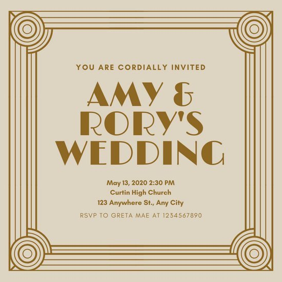 Great Gatsby Ticket Template New Customize 64 Great Gatsby Invitation Templates Online Canva