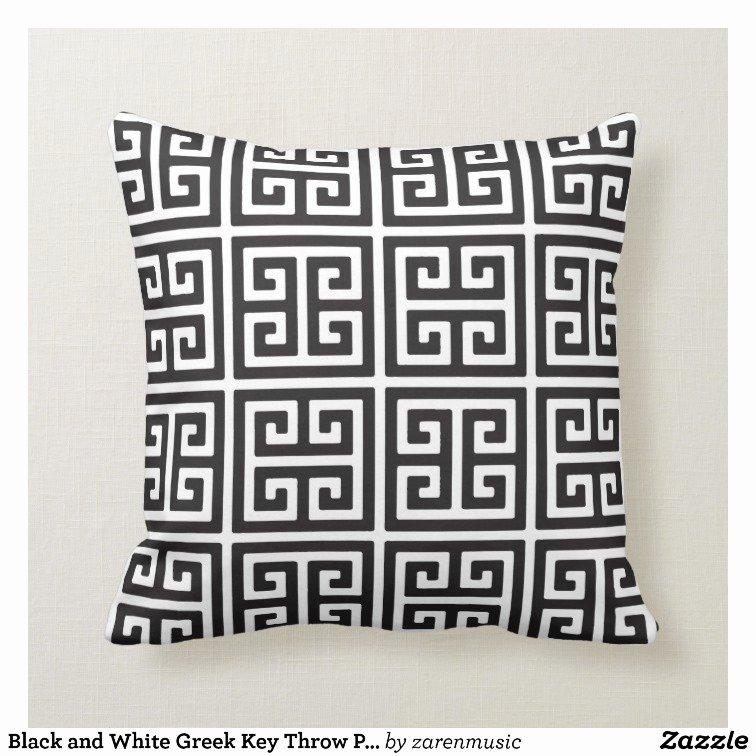 Greek Key Pattern Template Beautiful Black and White Greek Key Throw Pillow