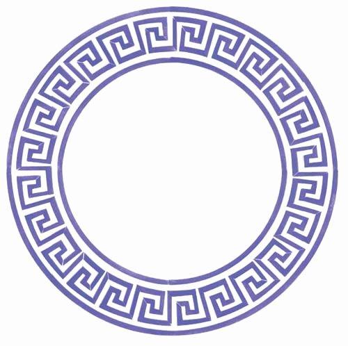 Greek Key Pattern Template Beautiful Small Greek Key Circle Designer Stencils