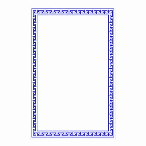 Greek Key Pattern Template Inspirational Greek Key Stationary Blue Stationery Design