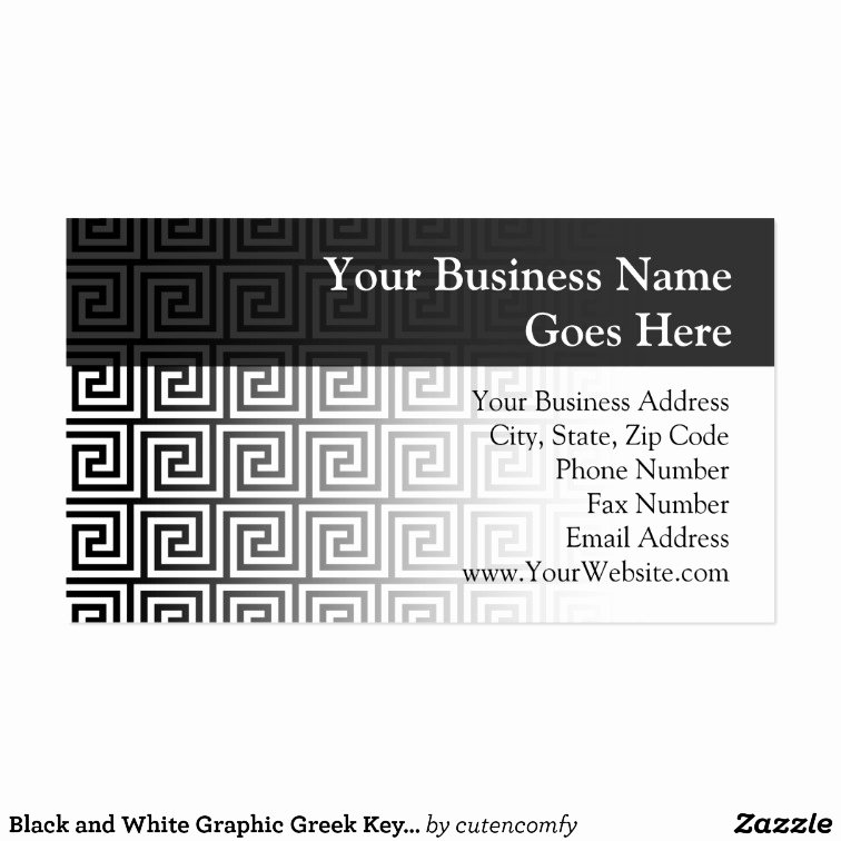 Greek Key Pattern Template New Black and White Graphic Greek Key Pattern Business Card