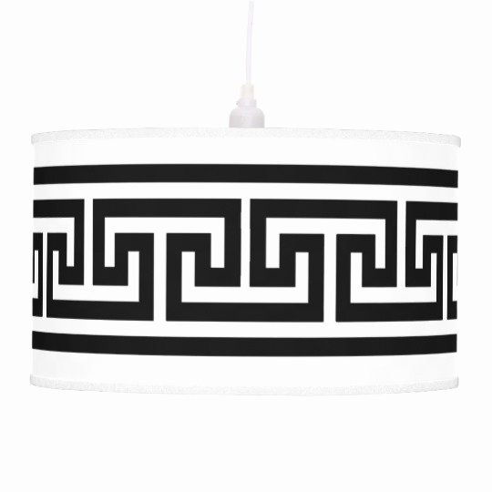 "Greek Key Pattern Template New Black Greek Key Border ""t"" Pattern Pendant Lamp"