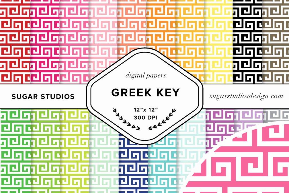 Greek Key Pattern Template Unique Greek Key Digital Background Papers Patterns On Creative