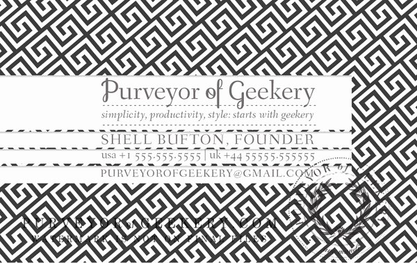 Greek Key Pattern Template Unique Premade Greek Key Business Cards Customizable Color