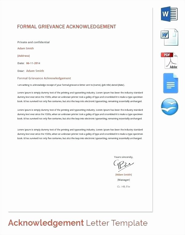 Grievance Appeal Letter Awesome Grievance Letter Template