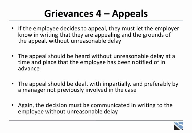 Grievance Appeal Letter Beautiful Disciplinaries Grievances and Settlement Discussions