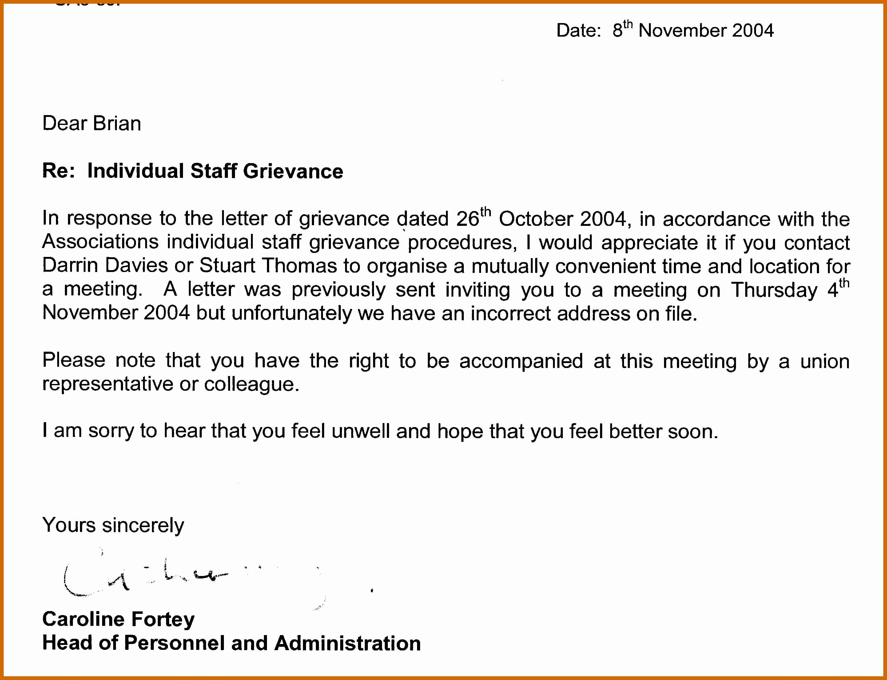 Grievance Appeal Letter Luxury 7 8 Grievance Appeal Letter