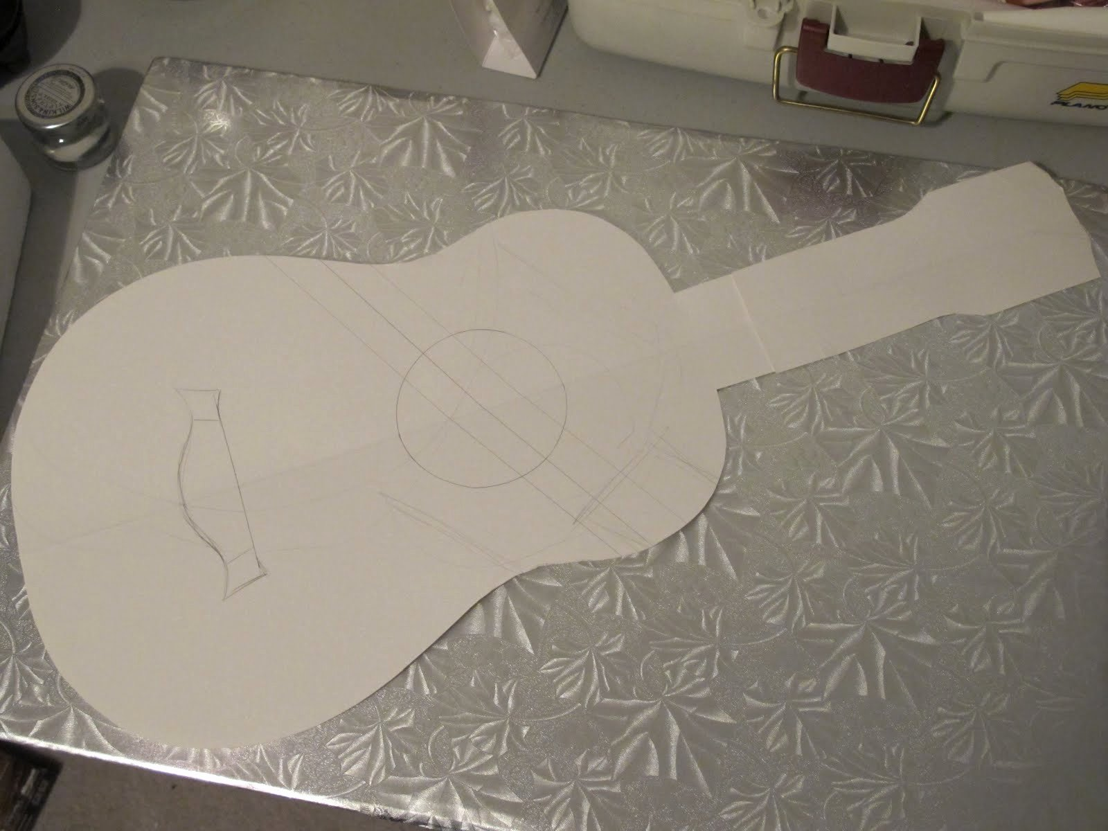 Guitar Cake Template Best Of Hollands Acoustic Guitar Side Templates Learn How