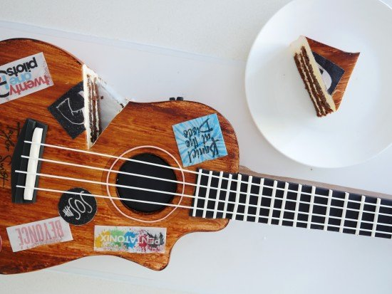 Guitar Cake Template Best Of Howtocookthat Cakes Dessert & Chocolate