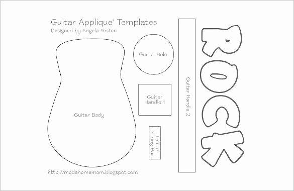 Guitar Cake Template Inspirational 26 Of Paper Guitar Template
