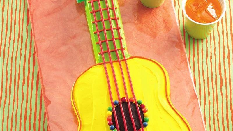 Guitar Cake Template Inspirational Guitar Cake Recipe Bettycrocker