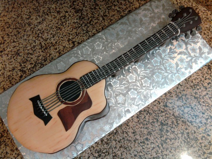 Guitar Cake Template New Pin Acoustic Guitar Cake Template Cake On Pinterest