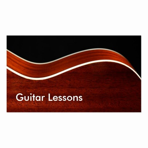 Guitar Lesson Gift Certificate Template Beautiful Business Card Guitar Lessons Business Card