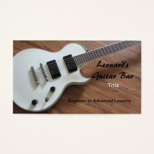 Guitar Lesson Gift Certificate Template Beautiful Electric Guitar Lessons Business Card