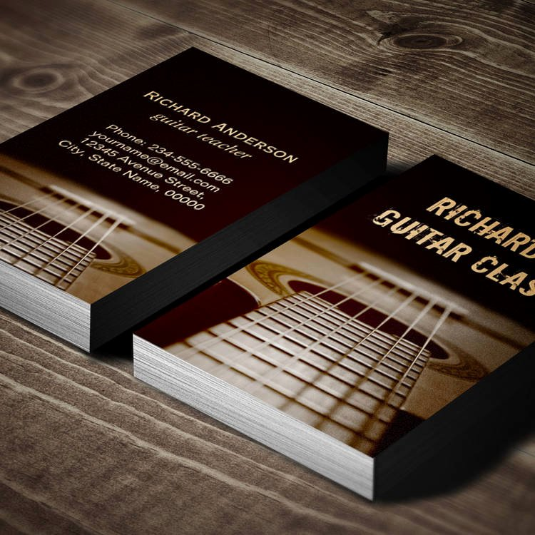 Guitar Lesson Gift Certificate Template Beautiful Real Estate Business Card Templates
