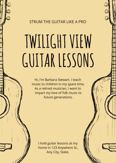 Guitar Lesson Gift Certificate Template Best Of Music Flyer Templates Canva