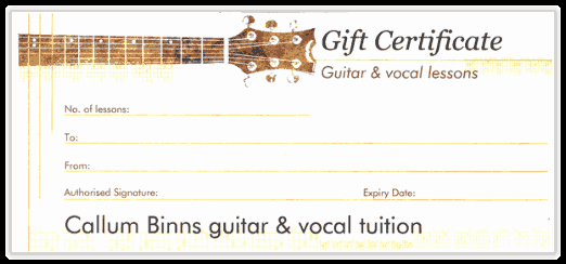 Guitar Lesson Gift Certificate Template Elegant Callum Binns Classical and Acoustic Guitar Lesson T