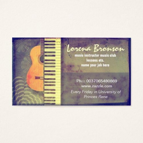 Guitar Lesson Gift Certificate Template Inspirational 20 Best Piano Teacher Business Cards Images On Pinterest
