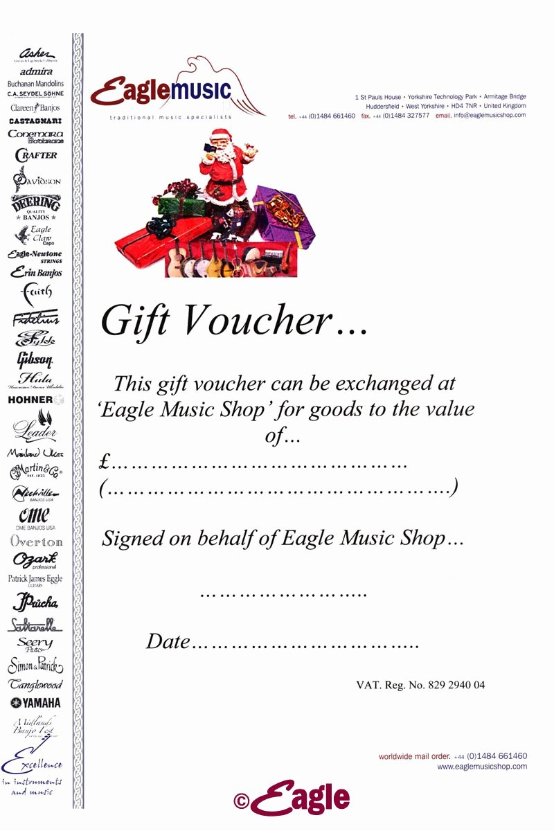 Guitar Lesson Gift Certificate Template Inspirational Music T Voucher Frompo 1