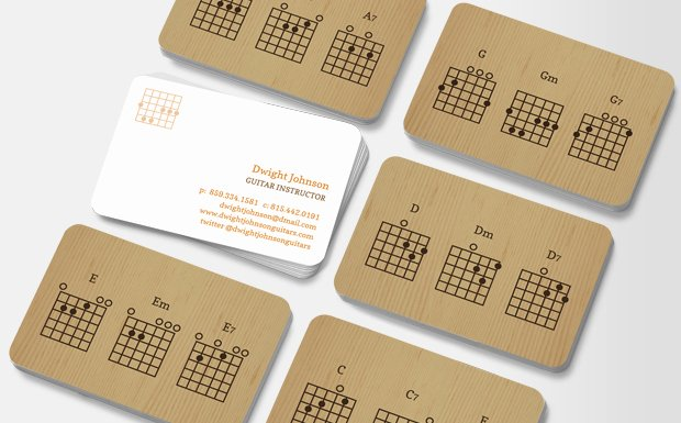 Guitar Lesson Gift Certificate Template Lovely Guitar Chords Business Cards