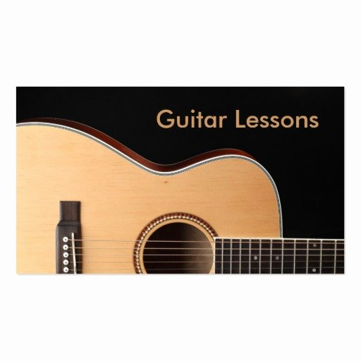 Guitar Lesson Gift Certificate Template New Business Card Guitar Lessons