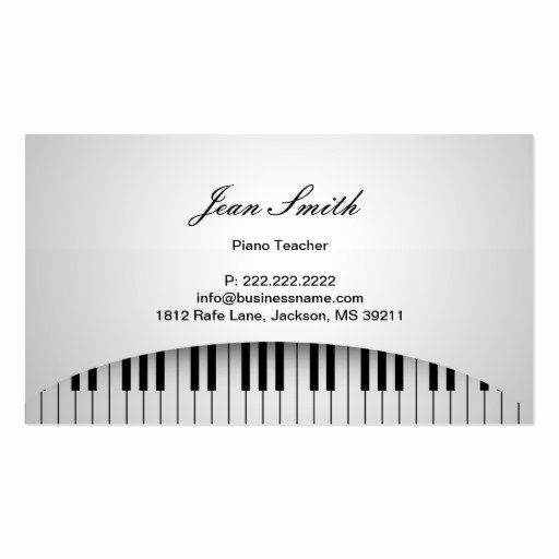 Guitar Lesson Gift Certificate Template New Collections Of Music Tutor Business Cards