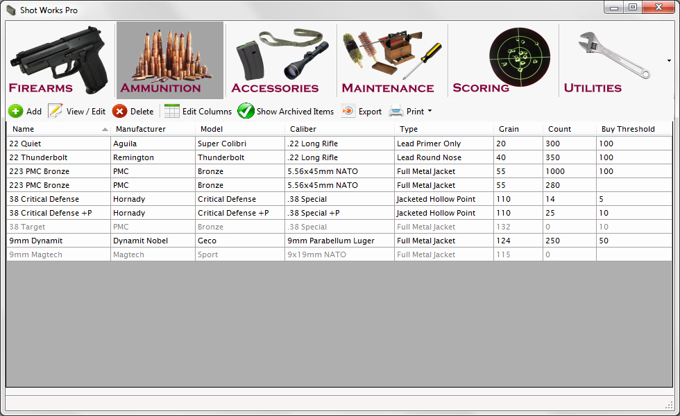Gun Inventory Template Awesome Inventory Table Details