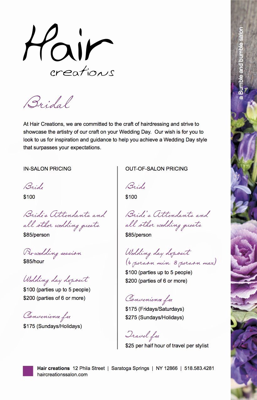 Hair Stylist Contract for Wedding Inspirational News Archives