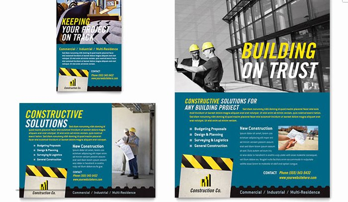 Half Page Flyer Template Word Elegant 6 Construction Flyer Templates
