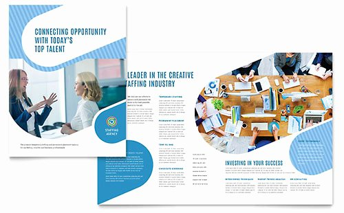 Half Page Flyer Template Word Elegant Staffing & Recruitment Agency Brochure Template Word