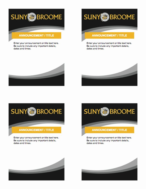 Half Page Flyer Template Word New Template 8 5×11″ Quarter Sheet Flyers