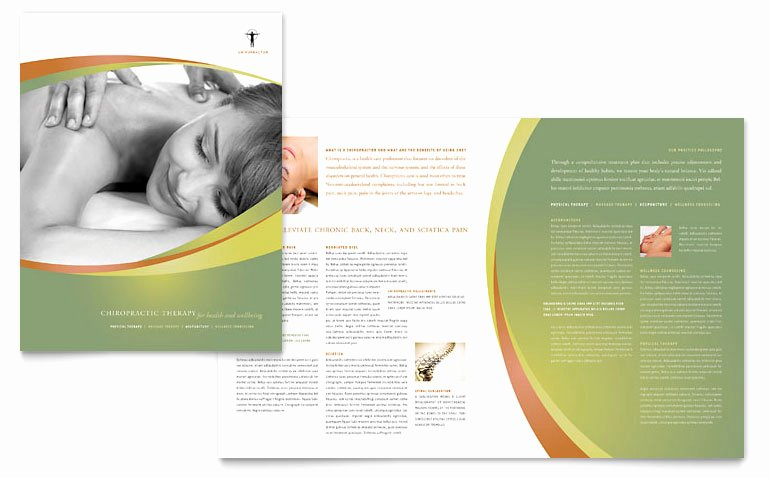Half Page Flyer Template Word Unique Massage & Chiropractic Brochure Template Word & Publisher