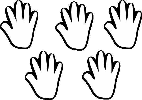 Hand Cut Out Template Best Of Child Handprint Template Clipart Best