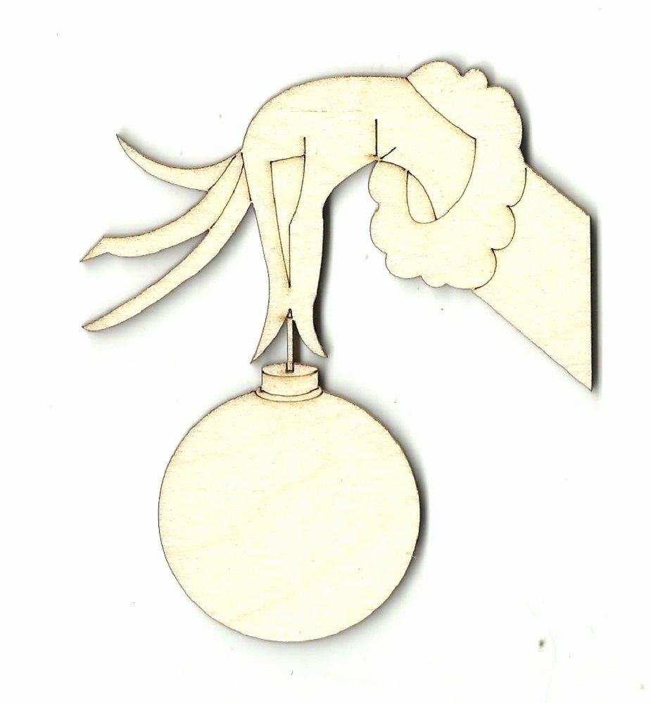 Hand Cut Out Template Best Of Grinch Hand ornament Engraved Unfinished Wood Shape Supply