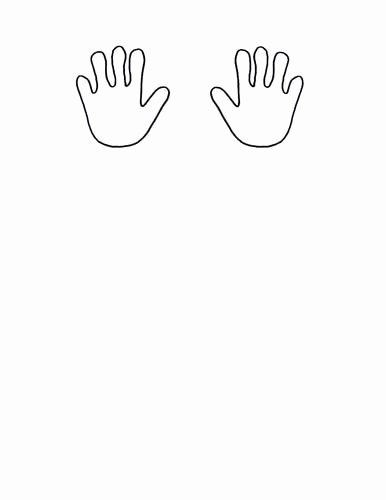 Hand Cut Out Template Lovely Baby Hands Template Free Cut Out 52 On Card Stock
