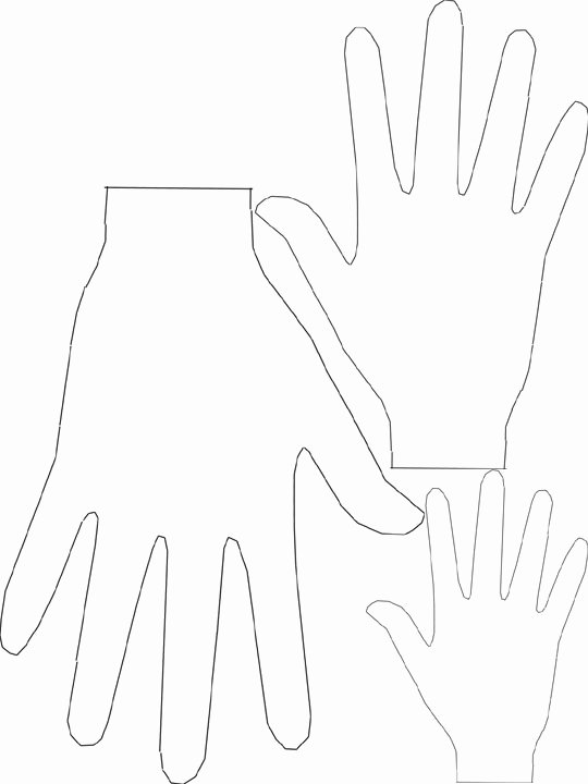 Hand Cut Out Template New 30 Of Handprint Cut Out Template