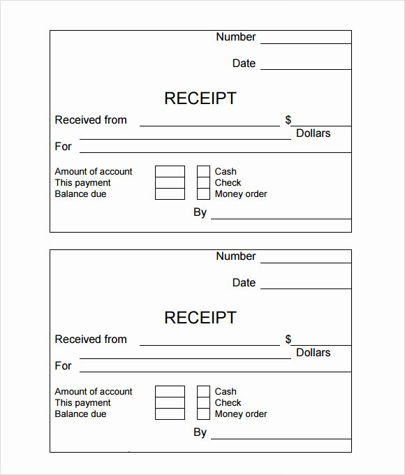 Hand Written Receipt Template Elegant Simple Receipt Template 10 Free Samples Examples format