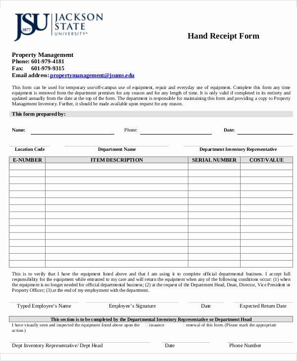 Hand Written Receipt Template Lovely Receipt forms In Pdf
