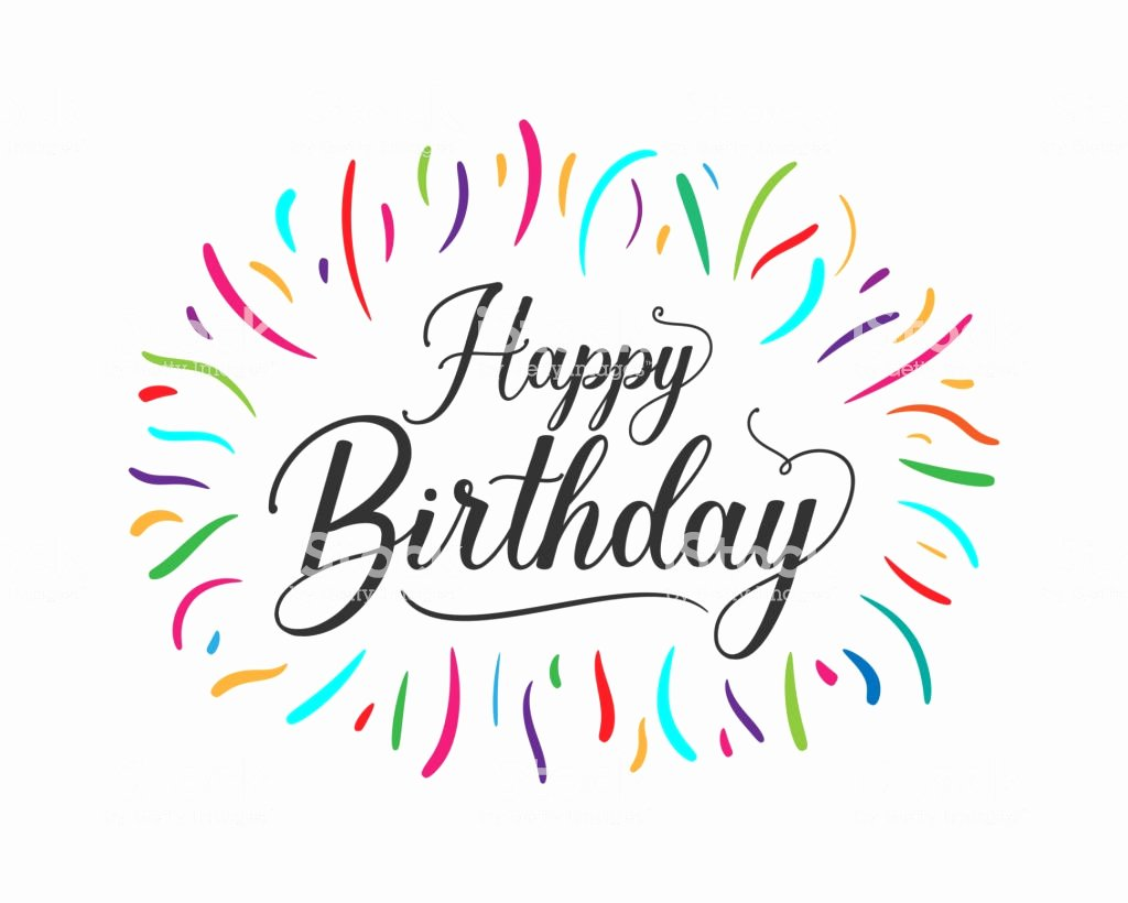 Happy Birthday Sign Template Awesome Colorful Happy Birthday Typographic Design for Poster