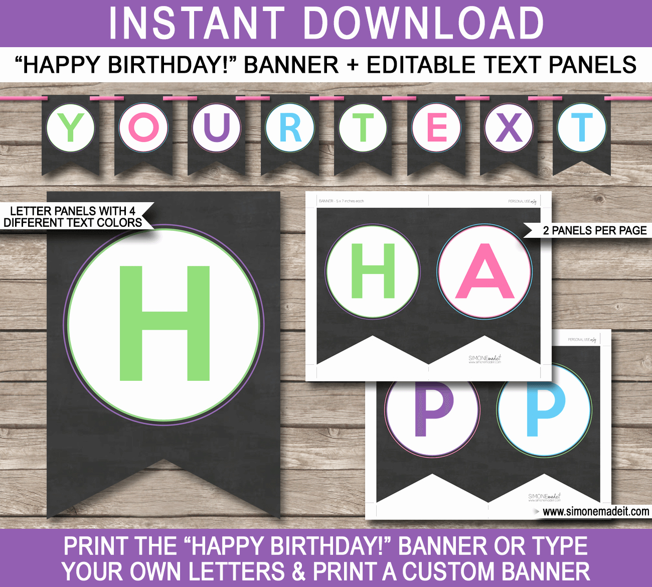 Happy Birthday Sign Template Best Of Chalkboard Party Banner Template