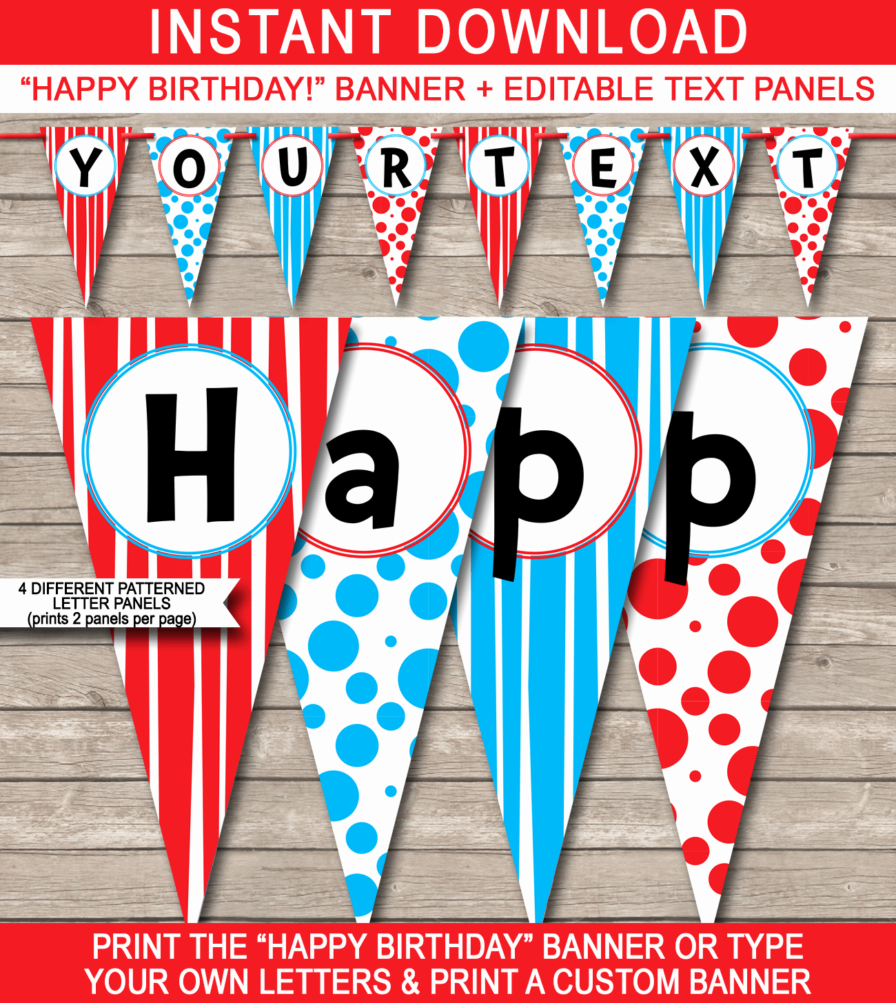 Happy Birthday Sign Template Fresh Dr Seuss Party Banner Template