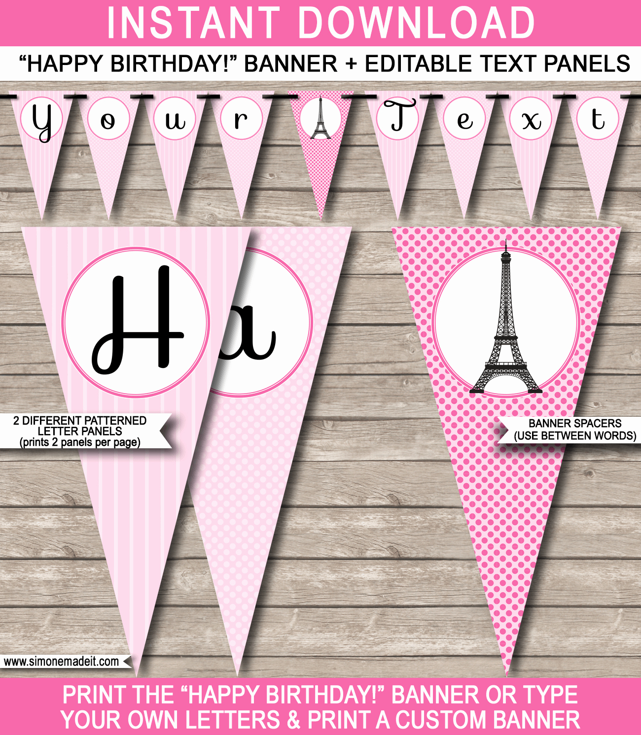 Happy Birthday Sign Template Fresh Paris Party Banner Template