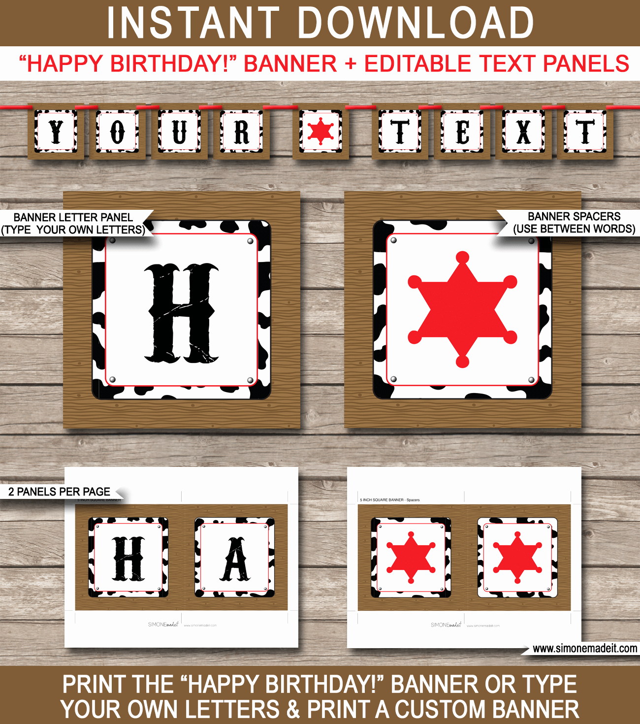 Happy Birthday Sign Template Inspirational Cowboy Party Banner Template Birthday Banner